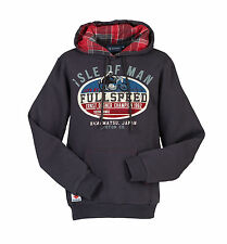 Suzuki Mens Isle of Man Jumper Hoodie Hoody Cotton Blend Tartan Style Lining
