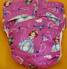 All In One Adult Baby Reusable Cloth Diaper S,M,L,XL Princess Sofia