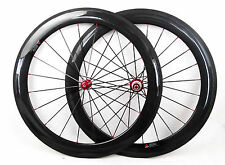 hot sale carbon 60mm clincher wheels bike cycle wheels tubeless compatible