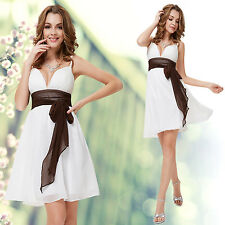Ever Pretty White Spaghetti Straps Deep V-neck Short Party Dress 05118