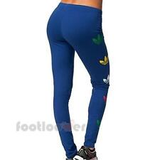 Adidas fun leggins donna G86558 Royal Blue Fashion Moda elasticizzato fitness
