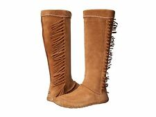Women's Shoes UGG Australia Mammoth Fringed Suede Boot 1008812 Chesnut *New*