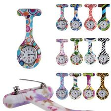 Fashion Silicone Nurse Doctor Watch Stainless Dial Brooch Fob Tunic Pocket Watch