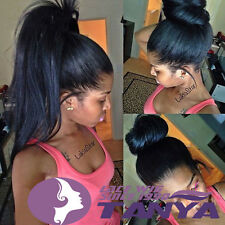 """Malaysia Yaki straight indian remy human hair full wigs lace front wig 12""""-24"""""""