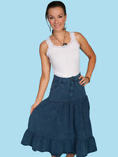 SCULLY Cantina Collection Denim Blue Peruvian Cotton Western Skirt PSL-078 NWT