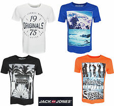 JACK AND & JONES HERREN T-SHIRT JJCORFASTER TEE SS CREW NECK GR S, M, L, XL, XXL