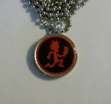 "RED Man Pendant on 24"" Chain Necklace ICP Hatchet U.S. Nickel"