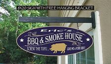 BBQ PIG & SMOKE HOUSE Grilling Grill Master Custom Personalized Sign