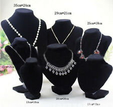 Black Mannequin Necklace Jewelry Pendant Display Stand Holder Show Decorate Rack