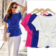 Women Ladies Summer Short Sleeve Loose Tee Shirt Casual Blouse Tops PLUS SIZE