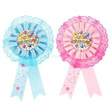 Happy Birthday Award Ribbon Rosette Pin Badge Kids Party Favors Party Decoration