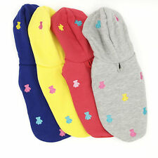 Clothing for Dogs Pet Puppy Hoodie Pet Dog Sweatshirt Leash Hole Pet Dog Clothes