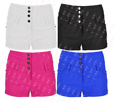 H88 NEW WOMENS HIGH WAISTED HOT PANTS LADIES SHORTS IN 06-22
