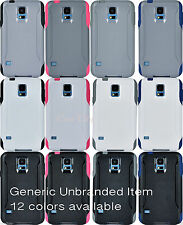 For Samsung Galaxy S5 Commuter Generic Case Dual Layer Hybrid Hard Cover