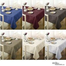 "Damask 6-8 Seater Round 70"" Tablecloth - 7 Colours"