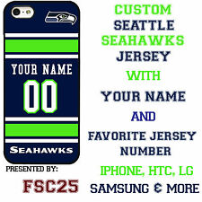 Custom SEATTLE SEAHAWKS Phone Case Cover w Your Name & Jersey Number IPhone