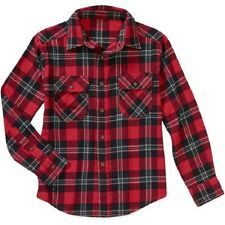 Faded Glory - Boys' Long Sleeve Flannel Shirt Red or Blue Various Sizes NWT