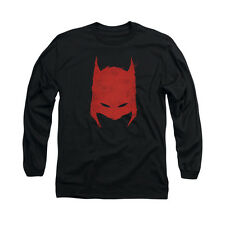 BATMAN HACKED & SCRATCHED Licensed Men's Long Sleeve Graphic Tee Shirt SM-2XL