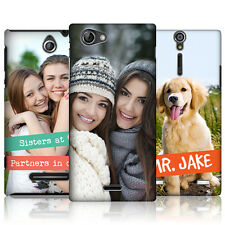 CREATE YOUR OWN PERSONALISED CUSTOM PRINTED HARD BACK CASE FOR SONY PHONES 2