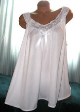 White 2 Piece Babydoll Nightgown & Panty 1X 3X Short Gown Soft Silky