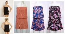 LADIES WOMENS PLAYSUIT ROMPER JUMPSUIT SIZE 6 - 28 SUMMER SHORTS TOP BEACH NEW
