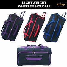 New Lightweight Wheeled Holdall Trolley Suitcase Luggage Travel Holiday Bag