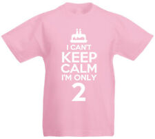 I Can't I'm Only 2 - 2nd Birthday Gift T-Shirt For 2 Year Old Boys & Girls
