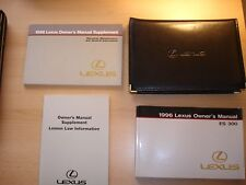 1996 LEXUS ES300 OWNERS MANUAL WITH CASE & SUPPLEMENTS