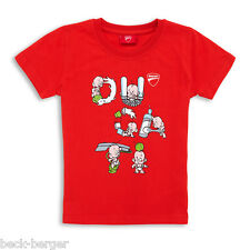 DUCATI Graphic BABY LETTERS Children BABY KIDS Short-Sleeved T-Shirt Red NEW