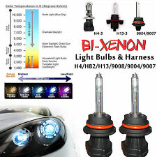 Two H4 H13 9004 9007 Bi-Xenon HID Lights Kit 's Replacement Bulbs 35W 55W Works