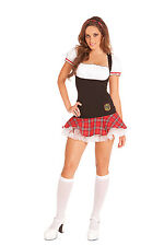 Sexy Women's Frisky School Girl Dress Costume Halloween Party Gogo Exotic Dance