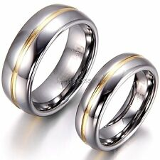 Tungsten Carbide SILVER POLISHED Wedding Band MEN WOMENS Engagement Bridal Ring