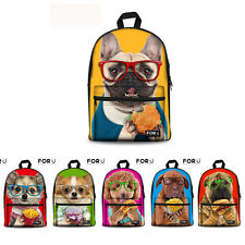 Women Animal Casual Canvas Travel Satchel School Rucksack Shoulder Bag Backpack