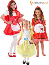 Age 4-10 Girls Fairytale Character Book Week Day Fancy Dress Costume Child Kids