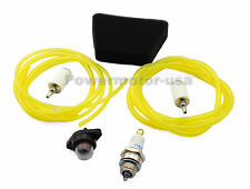 New Fuel Gas Lines+Fuel Filters +Air Filter+Primer Bulb+Spark Plug For Poulan