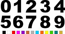 1x Set of Numbers 0 to 9 (5 inches tall) Vinyl Bumper Stickers Decals #a984