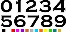 1x Set of Numbers 0 to 9 (5 inches tall) Vinyl Bumper Stickers Decals #a990