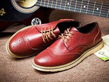 New Mens Casual/Dress Formal Oxfords Brogue wing tip formal lace up Flats Shoes