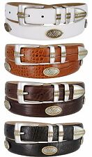 "Towne - Mens Genuine Italian Calfskin Golf Conchos Dress Belt, 1-1/8"" Wide"