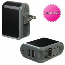 2.1Amp Strong Dual USB Wall Home Travel Charger Accessory Black for Cell Phones