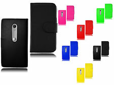 New Magnetic Wallet Flip Book Holder Leather Pu Case Cover For Motorola Moto G3