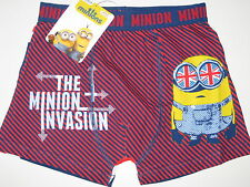 Boys Despicable Me Minion boxer pants shorts age 7-8, 9-10, 11-12 and 13 BNWT