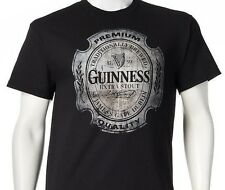 Guinness Beer Extra Stout Premium Quality Logo Black Vintage Mens Tshirt NEW