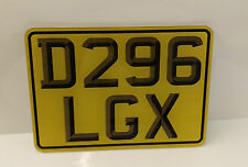 3D SMALL BIKE / MOTORBIKE NUMBER PLATE SHOW PLATES