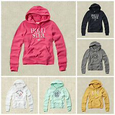 Nwt Hollister Women's Embroidered Logo Graphic Hoodie Size XS, S, M, L