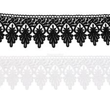 3Yards Embroidered Lace Ribbon Trimming Heart & Leaves Wedding Bridal Crafts DIY