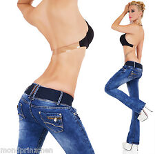 REDSEVENTY Jeans Bootcut + Ceinture Taille.32-42