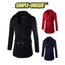 New Men Women Winter Double Breasted Cotton Coat Pea Overcoat ( 8762 )