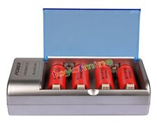 4x C size 1.2V 10000mAh Ni-MH rechargeable battery+ C/D AA Size Univeral Charger
