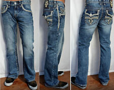 NWT & DEFECT Men's ROCK REVIVAL Mid Rise Kerr Boot Stretch Jean Sizes 29-40